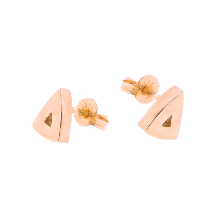 Rose gold arrow head stud earrings