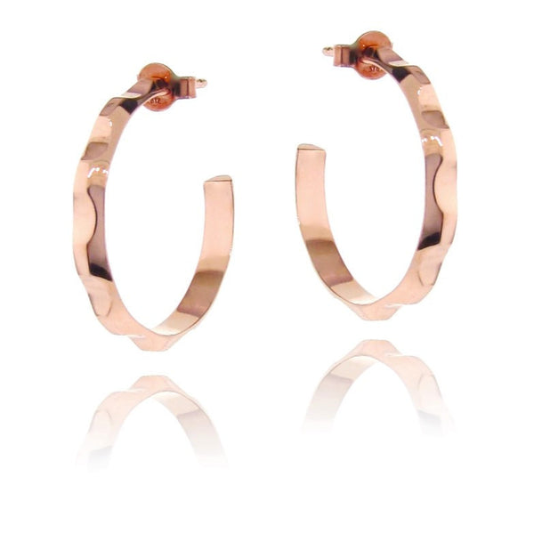 Rose Gold Find your Groove Hoop Earrings