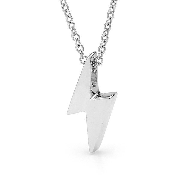 Sterling Silver 'Baby Lightning Bolt' Pendant, Necklace or Anklet
