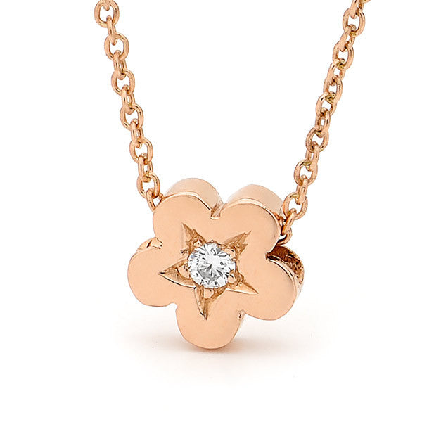 Rose Gold and Diamond 'Baby Blossom' Pendant