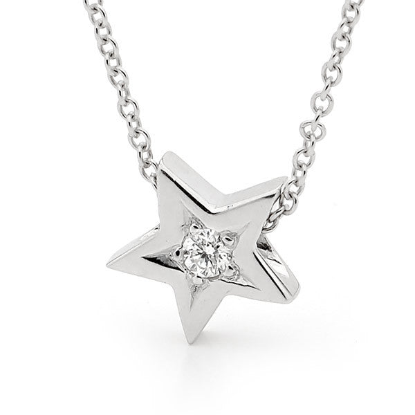 White gold Diamond 'Baby Star' pendant