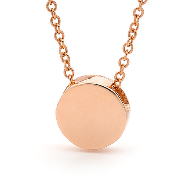 Rose Gold 'Baby Disc' Pendant