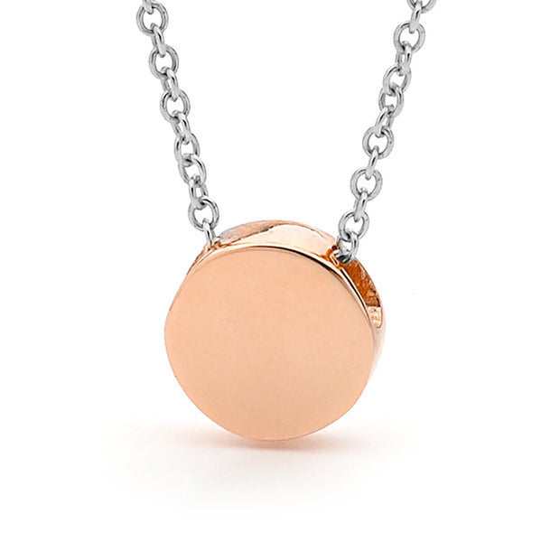 Rose Gold and silver 'Baby Disc' Necklace or Anklet