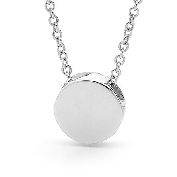 White Gold 'Baby Disc' Pendant