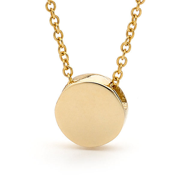 Yellow Gold Baby Disc Pendant
