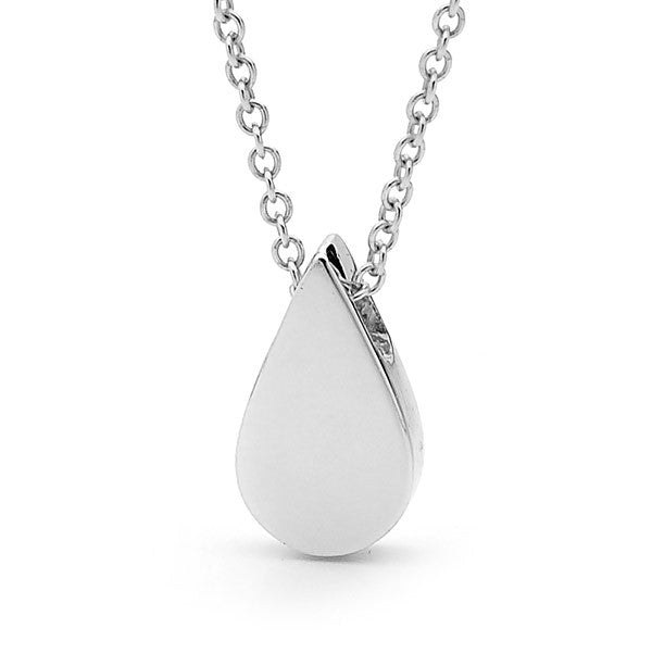 White Gold Baby Tear Drop Pendant