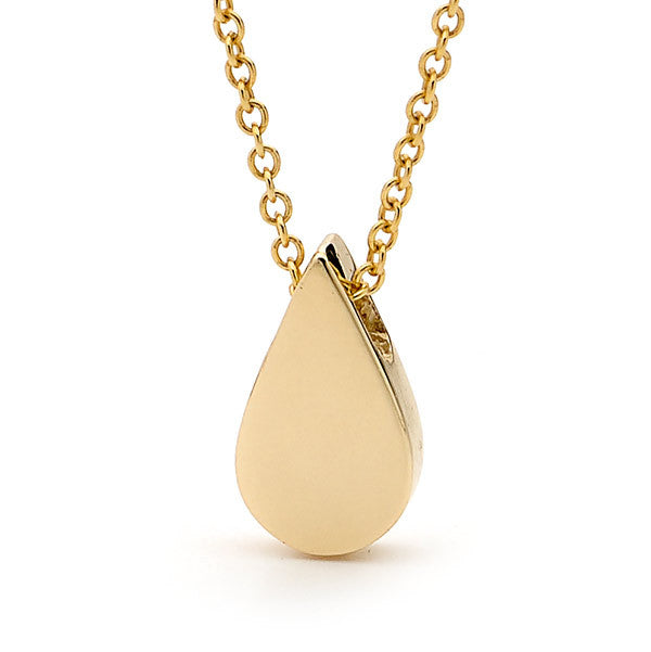 Yellow Gold 'Baby Tear Drop' Pendant