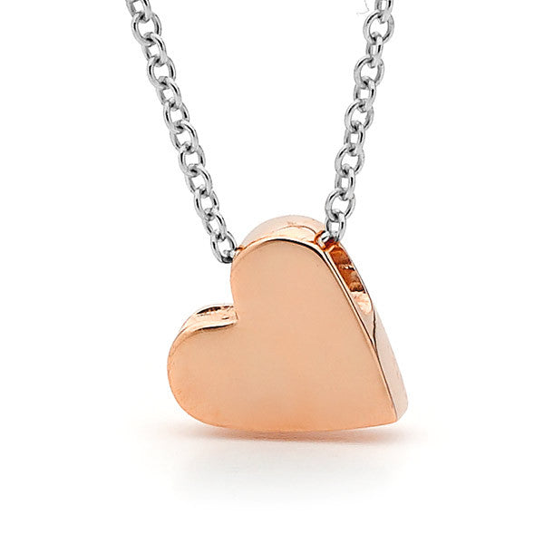 Rose Gold and silver 'Baby Heart' Necklace or Anklet