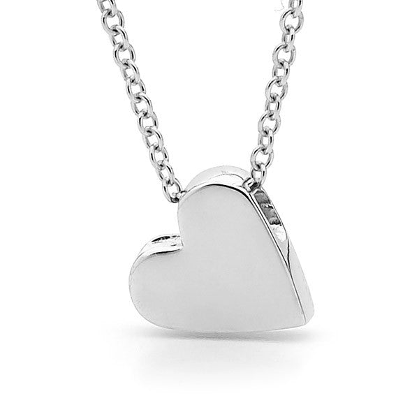 Sterling Silver Baby Heart Pendant, Necklace or Anklet