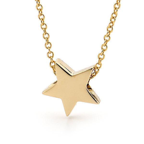 yellow gold baby star pendant