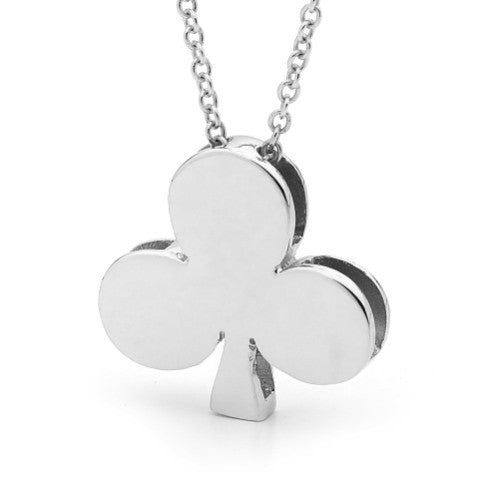 White Gold 'Queen of Clubs' Pendant