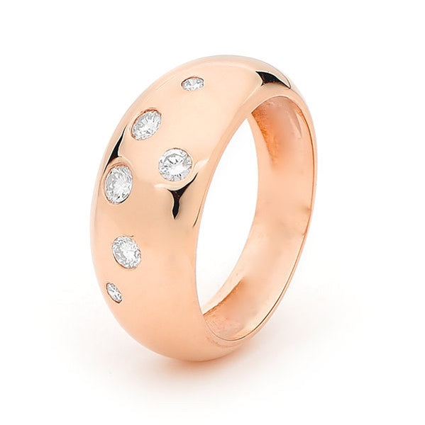 Rose Gold Diamond 'Eclipse' Ring