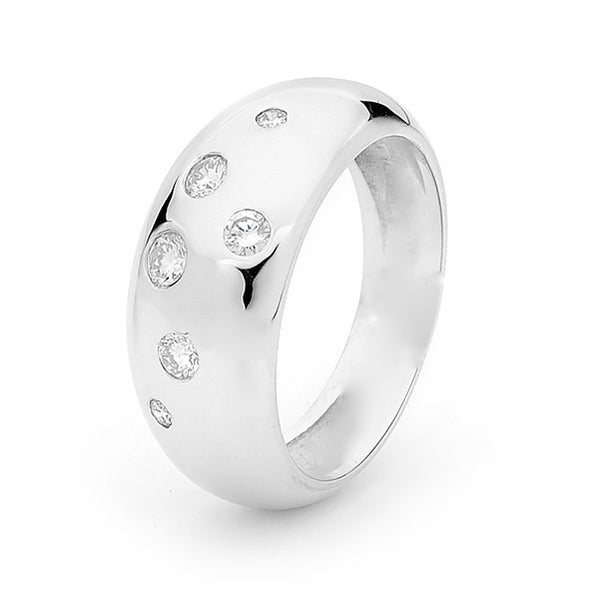 White Gold Diamond Eclipse Ring