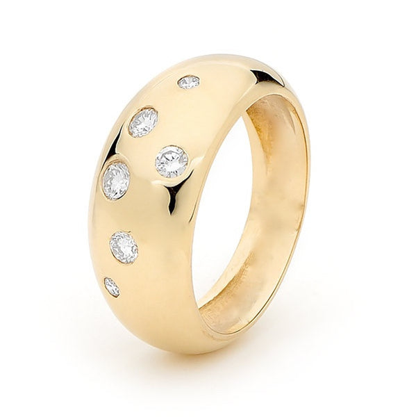 Yellow Gold Diamond Eclipse Ring
