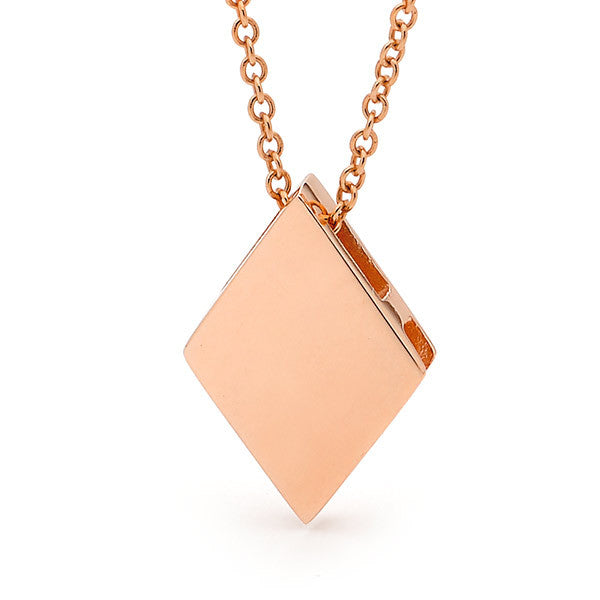 Rose Gold 'Diamond' Pendant