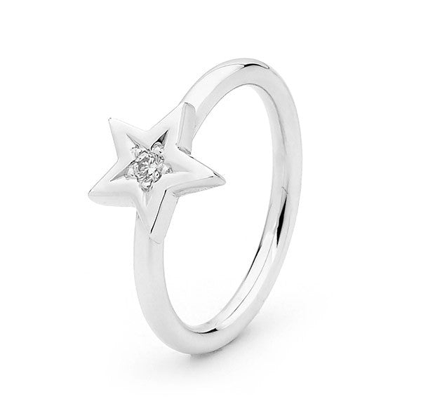 White Gold Diamond 'Baby Star' ring