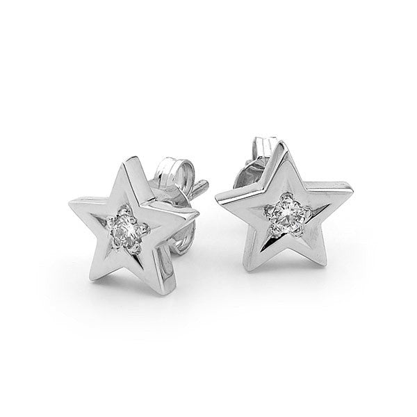 White Gold and diamond 'Baby Star' stud earrings