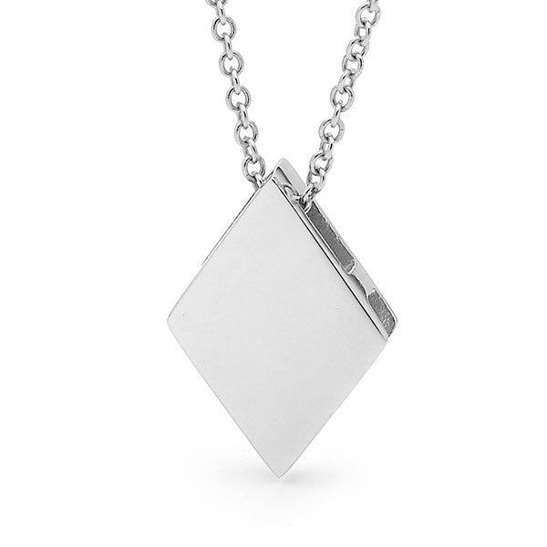White gold 'Jack of Diamonds' Pendant
