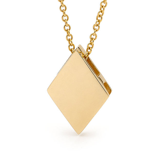 Yellow Gold 'Diamond' Pendant