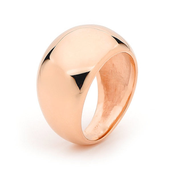 Rose Gold Wide Eclipse Ring