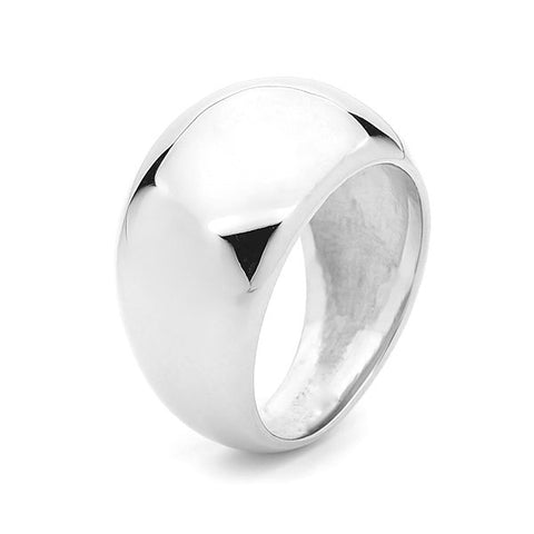 White Gold Wide Eclipse Ring