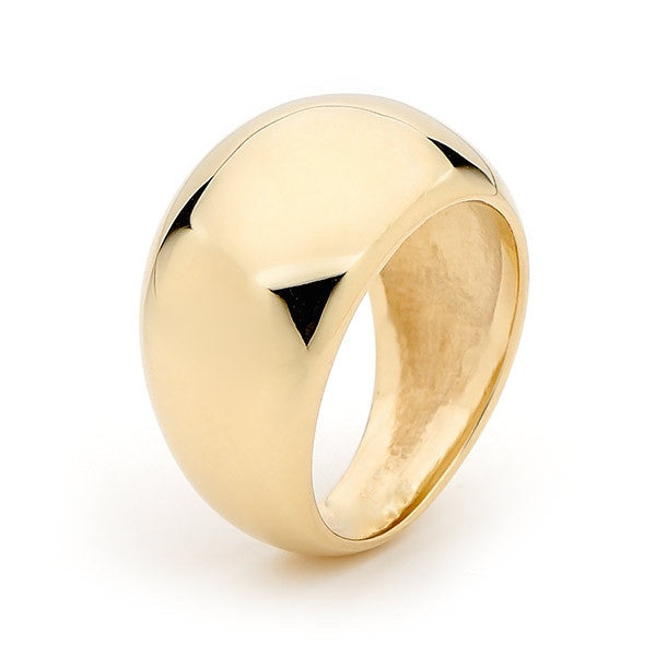 Yellow Gold 'Wide Eclipse' Ring