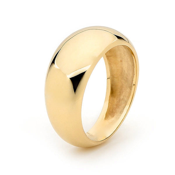 Yellow Gold 'Eclipse' Ring