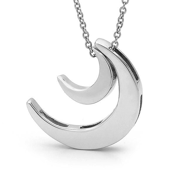 Sterling Silver '2 Moons' Necklace