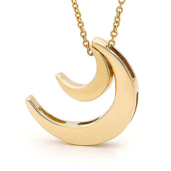 Yellow Gold '2 Moons' Necklace