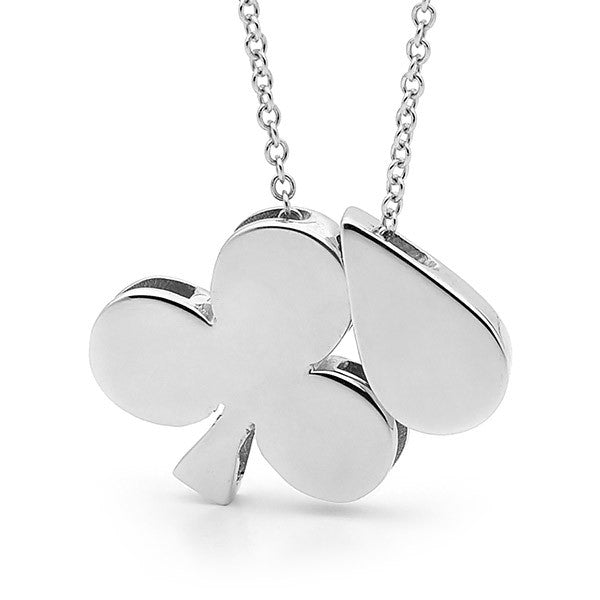 Sterling Silver 'Clubs & Drop' Necklace