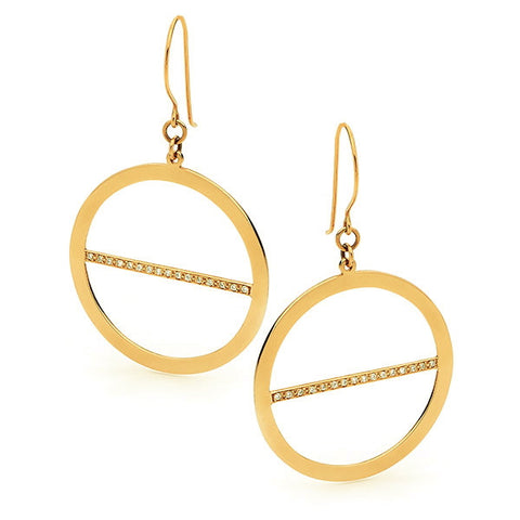 Yellow Gold 'Lunar Eclipse' Earrings