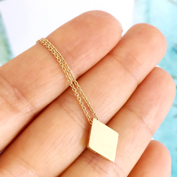 Yellow Gold 'Diamond' Playing cards Pendant