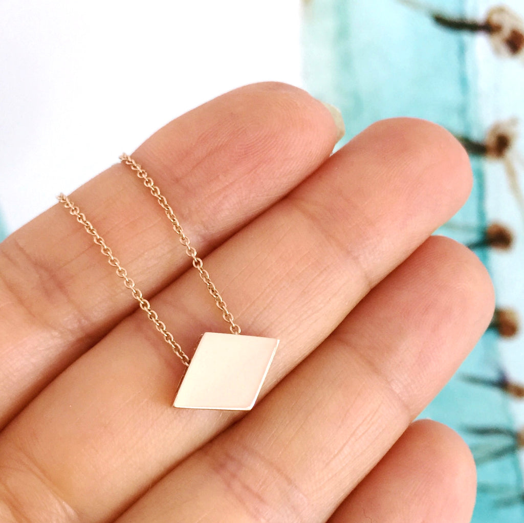 Rose Gold 'Diamond' Playing cards Pendant