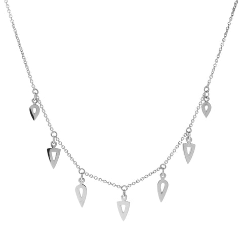 Sterling Silver Warrior Gypsy Charm Necklace