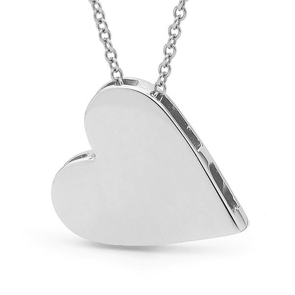 Sterling Silver Big Heart Pendant