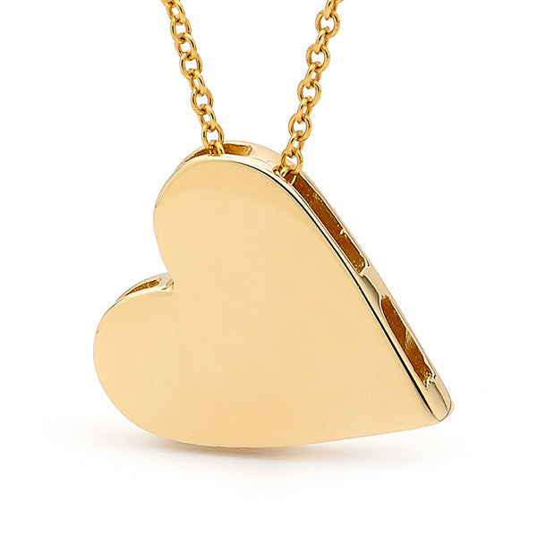 Yellow Gold Large Heart Pendant