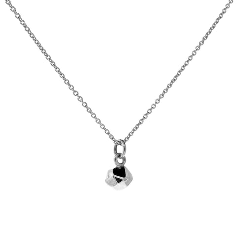 Sterling Silver Small Chubby Crystal Pendant, Necklace or Anklet