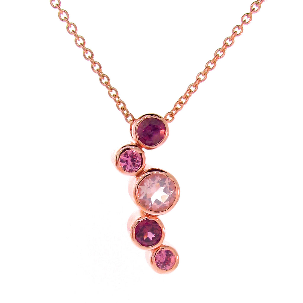 Rose Gold in the Pink Line Bubbles Pendant