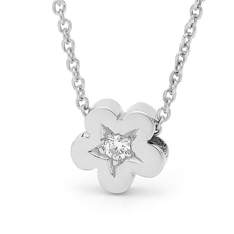 White Gold Diamond Baby Blossom Pendant