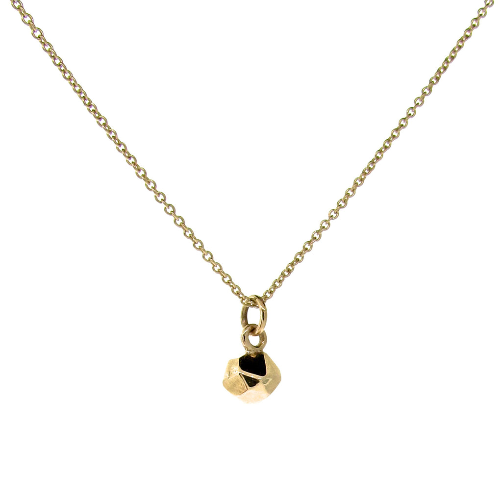 Yellow Gold Small Chubby Crystal Pendant