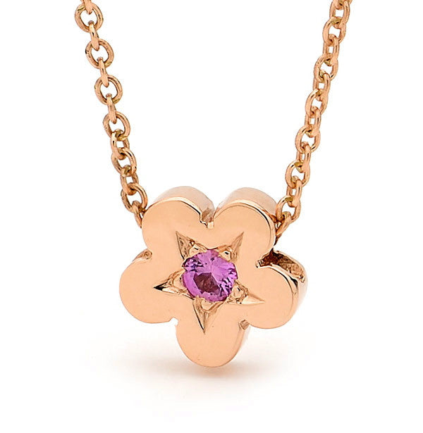 Rose Gold and Pink Sapphire 'Baby Blossom' Pendant