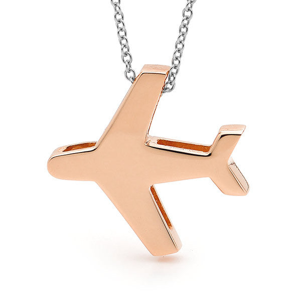 Rose Gold and silver 'Aeroplane' Necklace