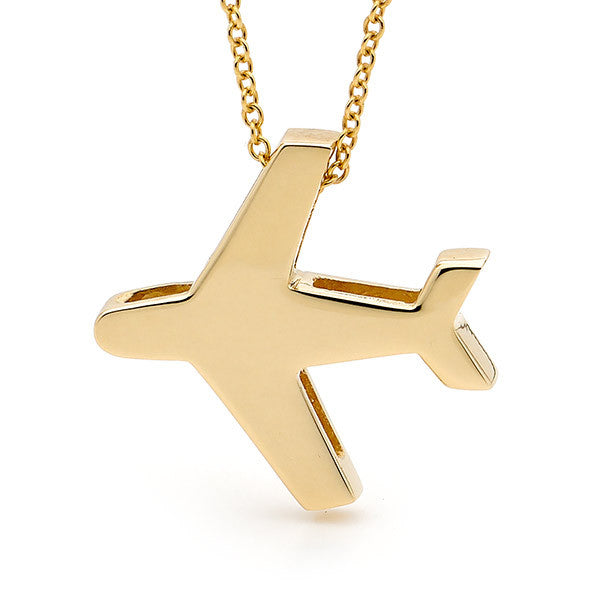 Yellow gold 'Aeroplane' Pendant