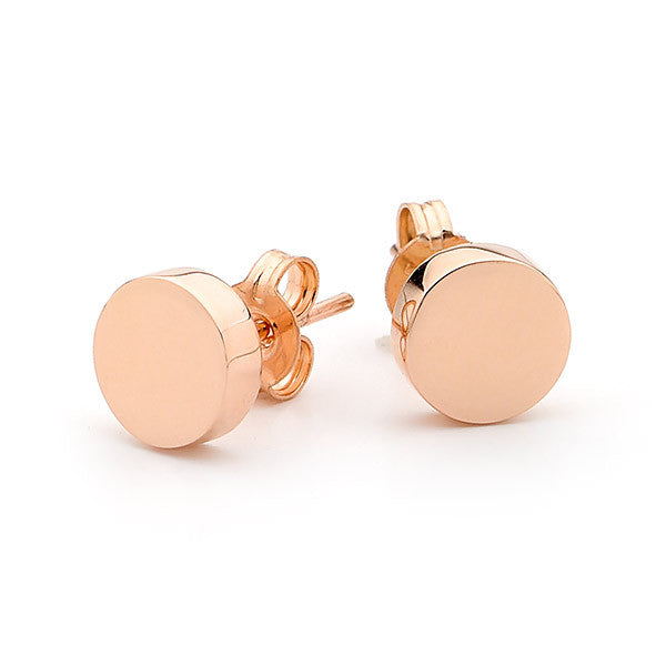 Rose Gold Baby Disc Stud Earrings
