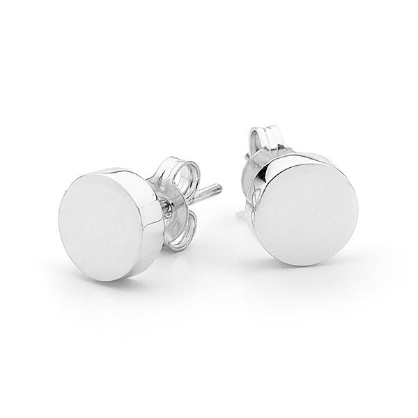 Sterling Silver 'Baby Disc' Stud Earrings
