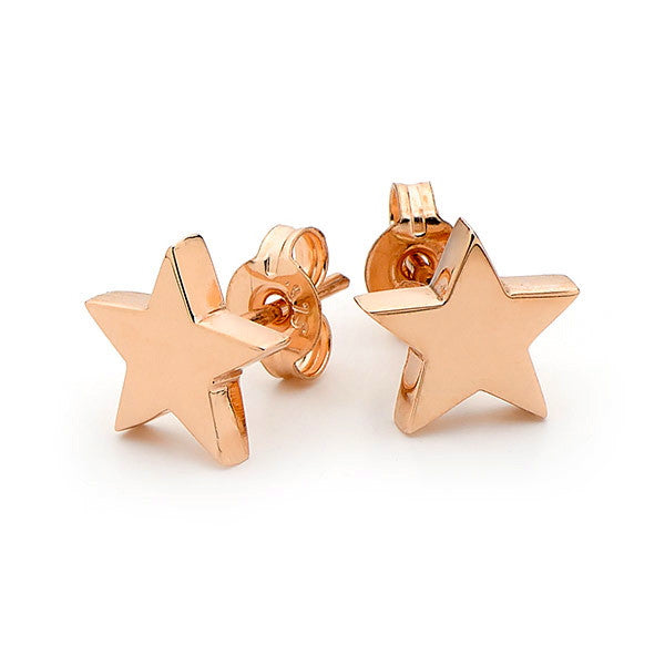 Rose Gold 'Baby Star' Stud Earrings