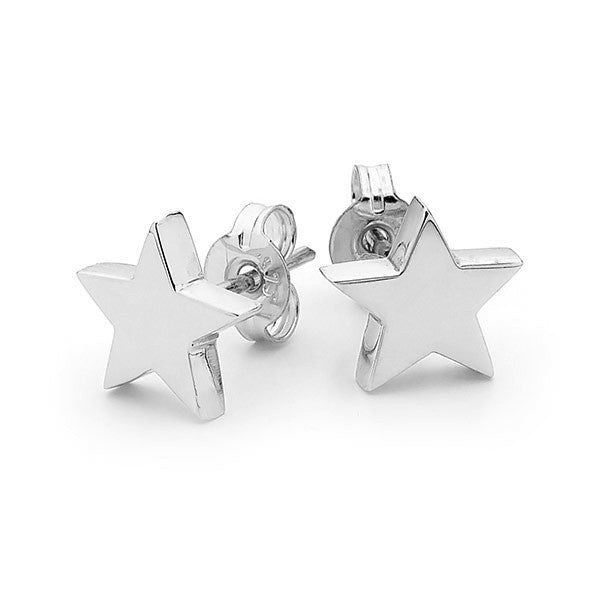 White Gold 'Baby Star' Stud Earrings