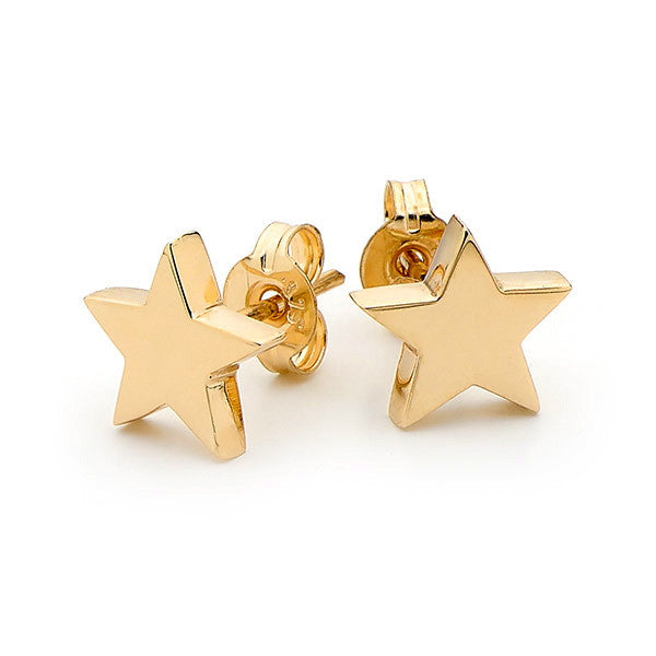 Yellow Gold 'Baby Star' Stud Earrings