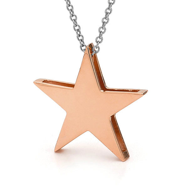 Rose Gold and silver Large 'Star' Necklace