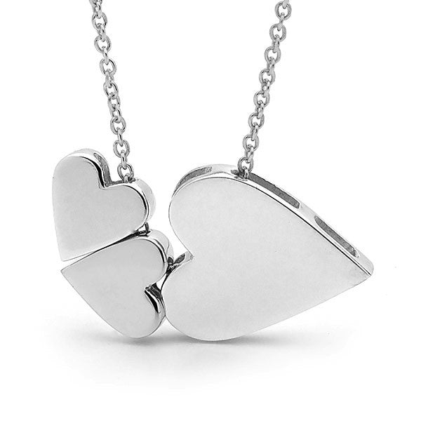 Sterling Silver '3 Hearts' Necklace